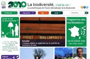 Le site Biodiversite2010.fr pour comprendre ce qu'est la biodiversité et comment la préserver à travers des vidéos, des jeux des manifestations, etc. © DR