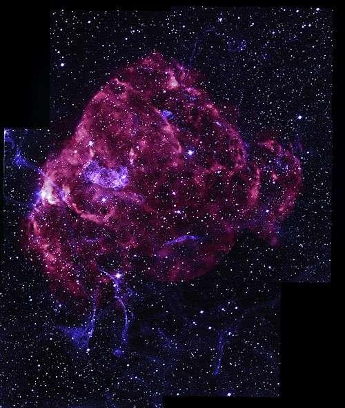Les vestiges de la supernova Puppis-A. Crédit Nasa