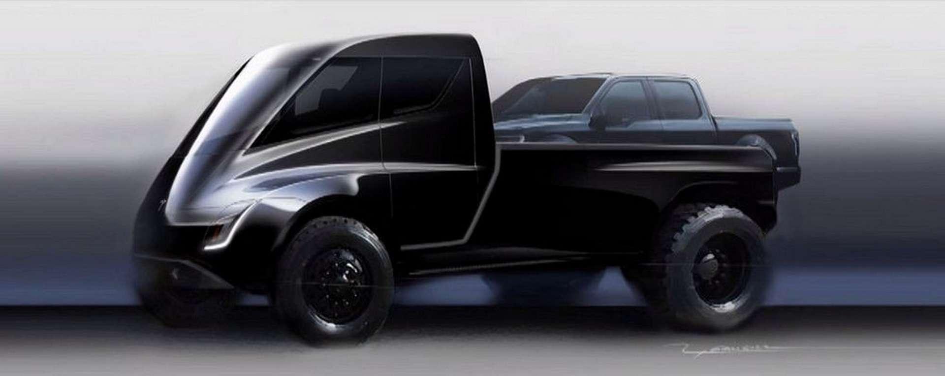 Le pick-up électrique de Tesla pourrait être dévoilé dès cet été. © Tesla