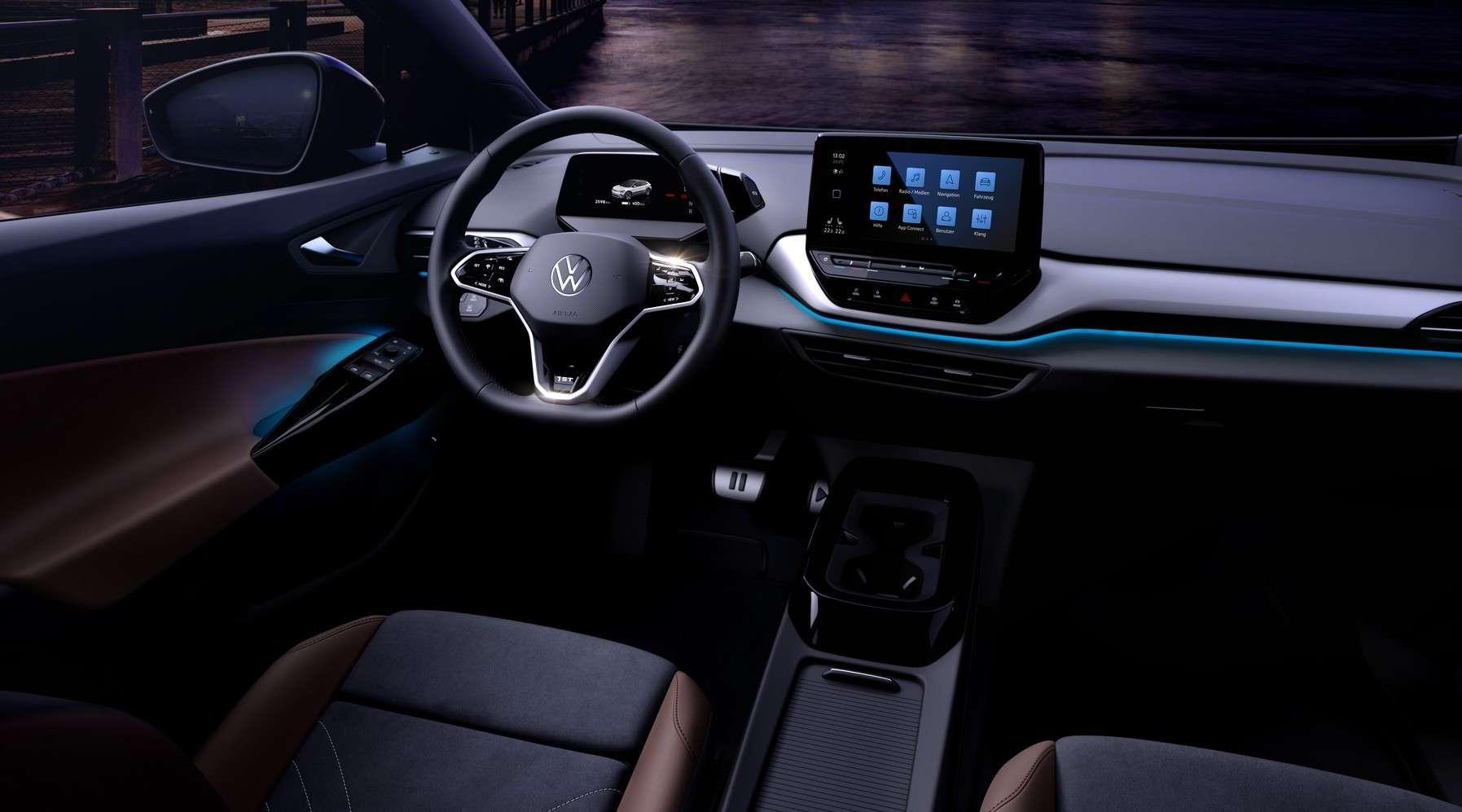 L'intérieur du futur SUV électrique Volkswagen ID.4. © Volkswagen