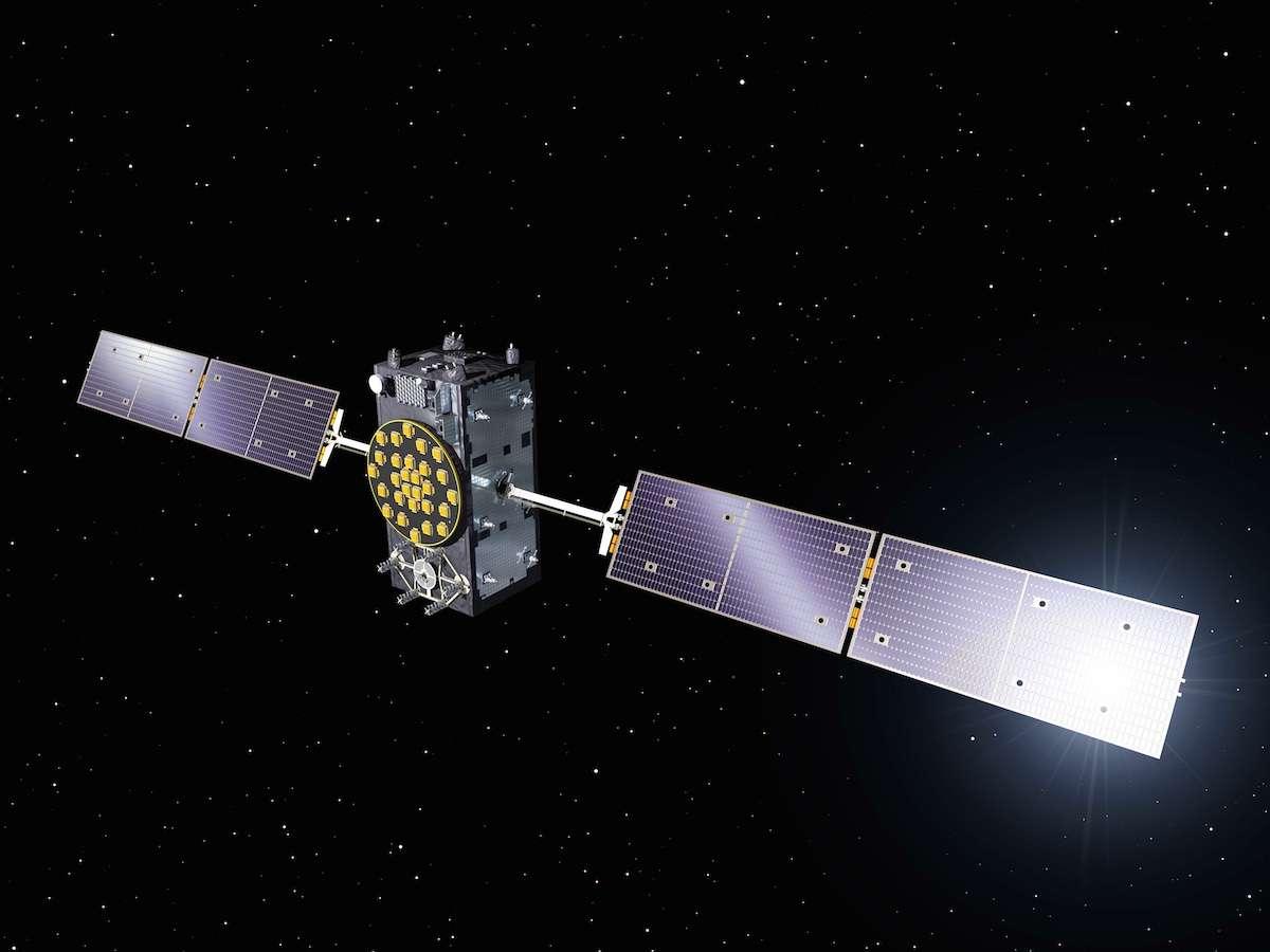 Un satellite Galileo FOC (Full Operational Capability). Quatre sont déjà en orbite sur un total de 22, tous construits en Allemagne par OHB. © Esa, P. Carril