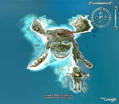 Le repaire de pirates qui vient d'émerger sur Google Earth...(Crédits : Google Earth)