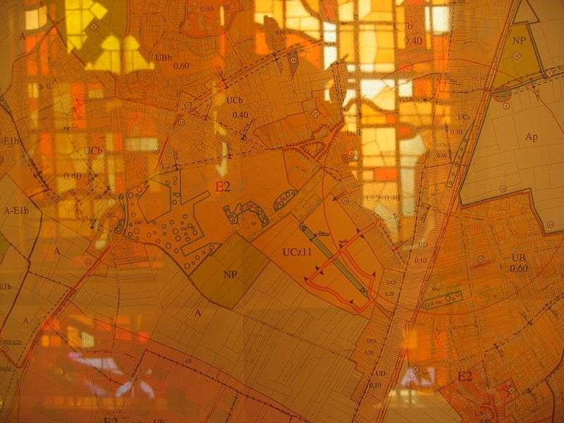 La carte des zonages du PLU de Wattignies affichée dans l'Hôtel de ville de ladite commune. © Coin-Coin, Wikimedia domaine public