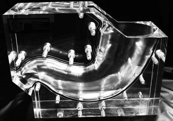 Ceci est un estomac... Cette maquette a servi à tester les configurations de modules et d'aimants. © ETH Zurich