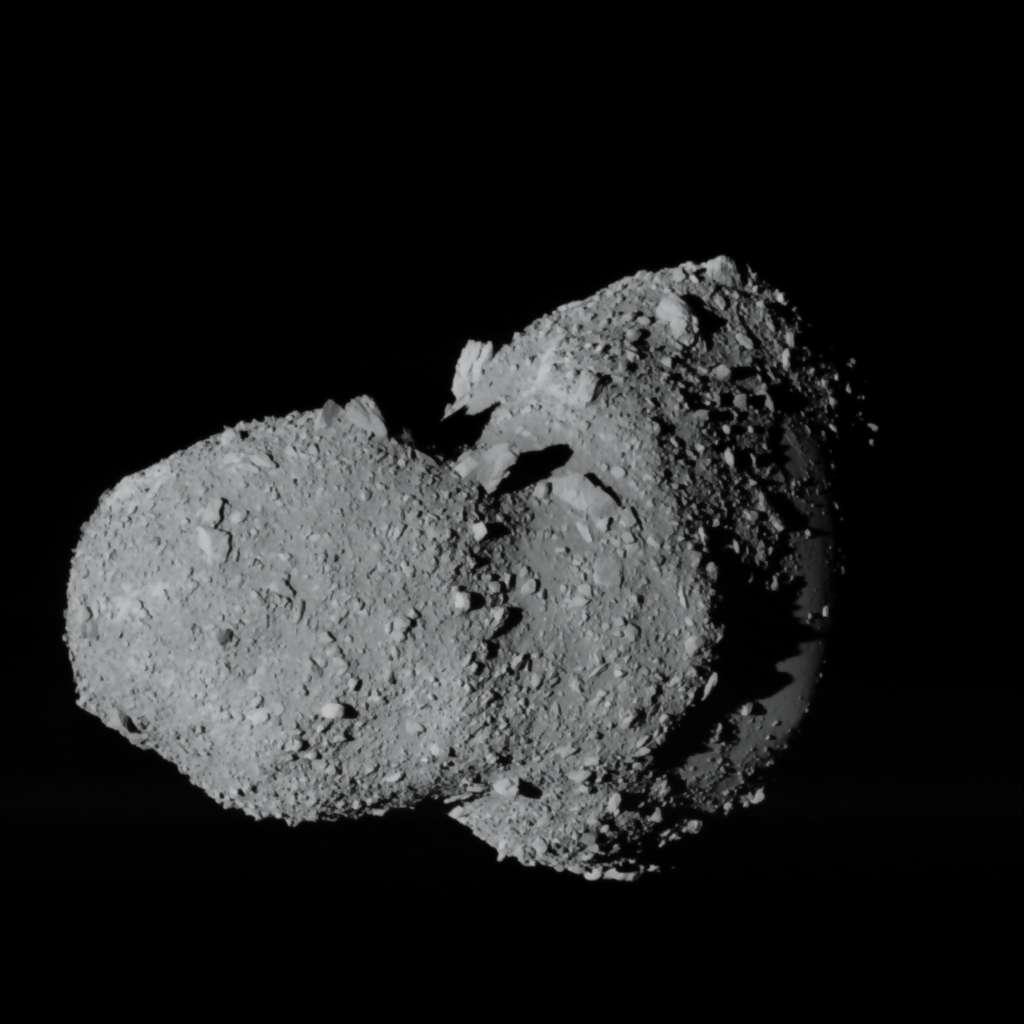 L'astéroïde Itokawa. Crédit : Jaxa