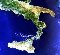 L'Italie vue par l'instrument MERIS d'ENVISAT