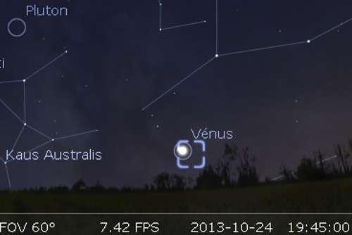 Vénus est en rapprochement avec l'amas globulaire M19