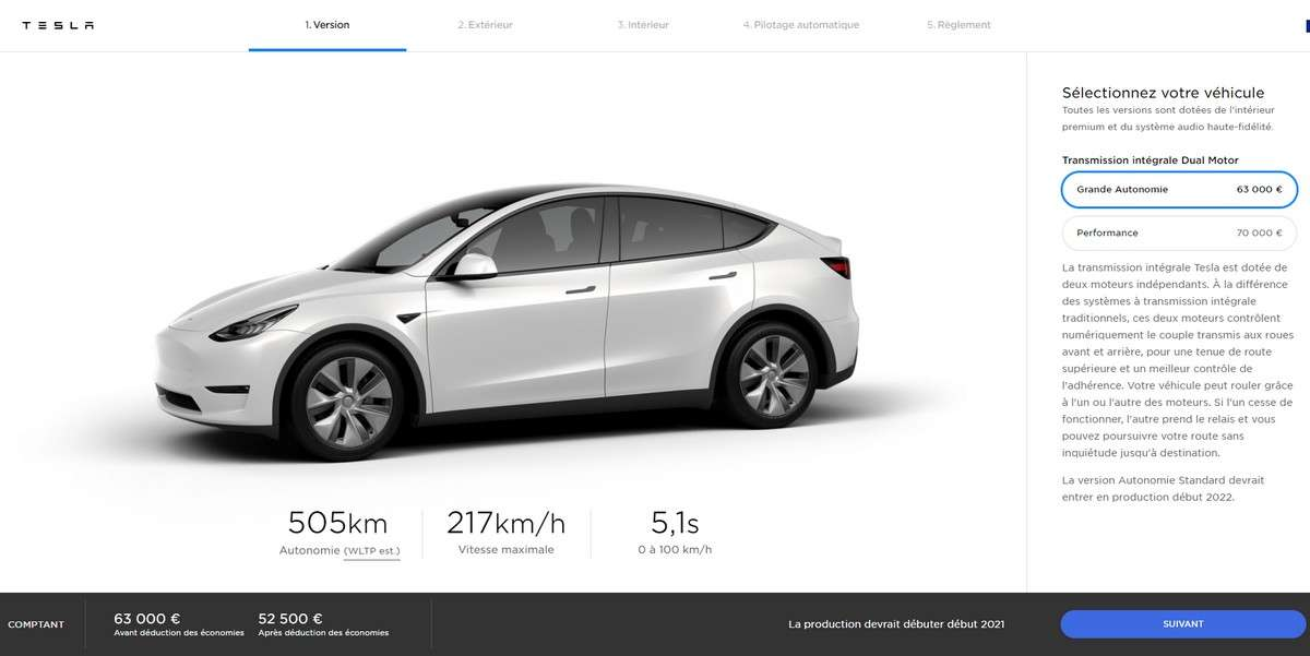 Tesla compte produire 500.000 Model Y par an. © Tesla