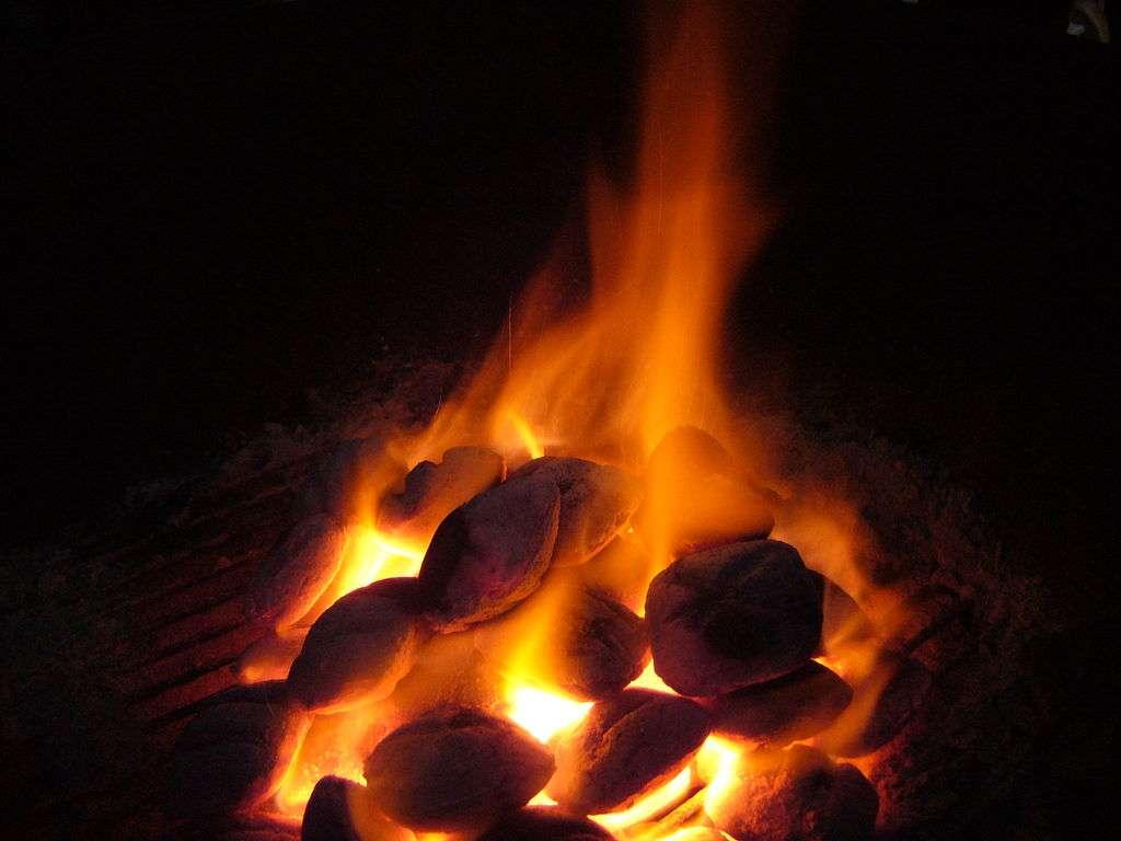 Lorsqu'il brûle, le charbon dégage du CO2, mais aussi des HAP (hydrocarbures aromatiques polycycliques), des NOx (oxydes d'azote), du soufre et des métaux lourds. C'est pourtant la principale source d'énergie utilisée dans le monde entier pour produire de l'électricité. © snty-tact, Wikipédia, cc by sa 2.5