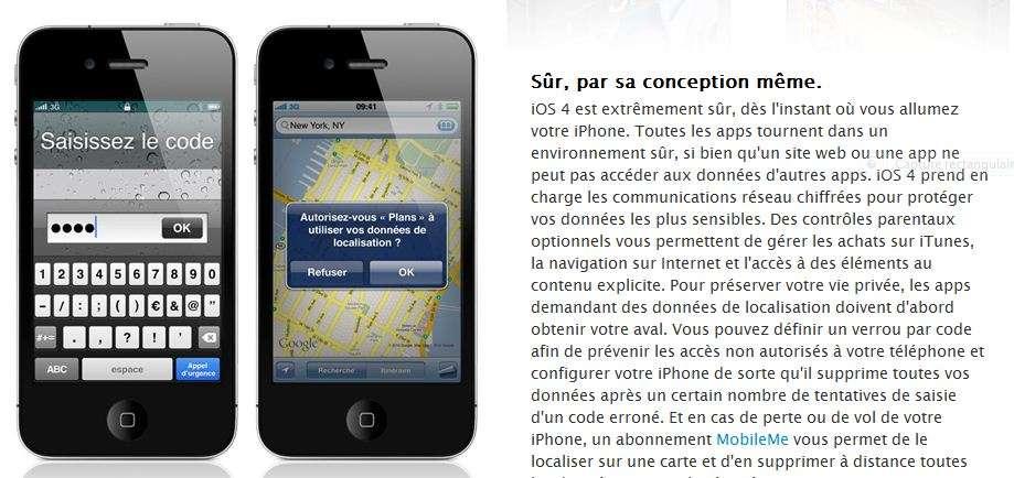 Un système de sécurité impressionnant mais le verrou est à revoir. © Apple