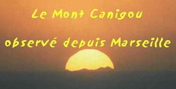 Marseille : le pic du Canigou dans le soleil couchant