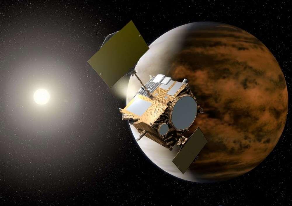 Si elle arrive à bon port, vers la fin 2015, la sonde japonaise Akatsuki prévue pour l'étude de Vénus devrait compléter les observations réalisées par l'européenne Venux Express, qui tourne autour de la planète depuis 2006. © Jaxa
