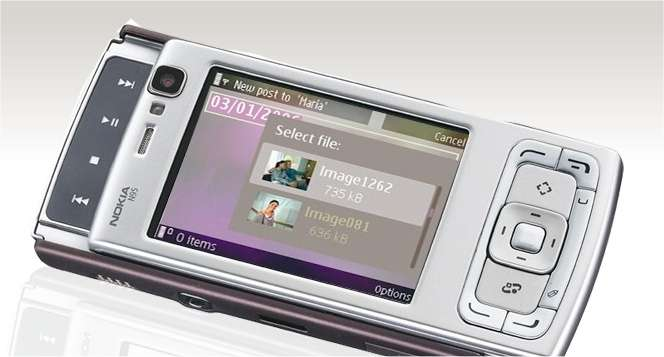 Le Nokia N95, un haut de gamme qui utilise Flash d'Adobe. © Nokia