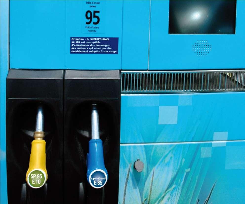 Une pompe de plus dans les stations-service. © Filière bioéthanol