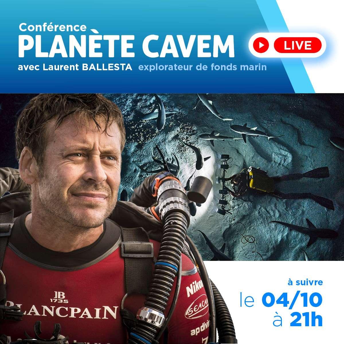 Le 4 octobre, Laurent Ballesta sera présent à la soirée d'ouverture de l'évènement Planète CAVEM 2019 et livrera dans une conférence « Les coulisses de l'expédition Gombessa V (Planète Méditerranée) ». Un rendez-vous à suivre en direct sur notre page Facebook. © Futura