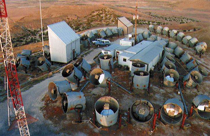 Le détecteur HiRes encore appelé Œil de mouche dans le désert de l'Utah. Crédit : HiRes collaboration