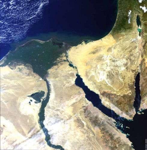 Le delta du Nil. Crédit : Esa