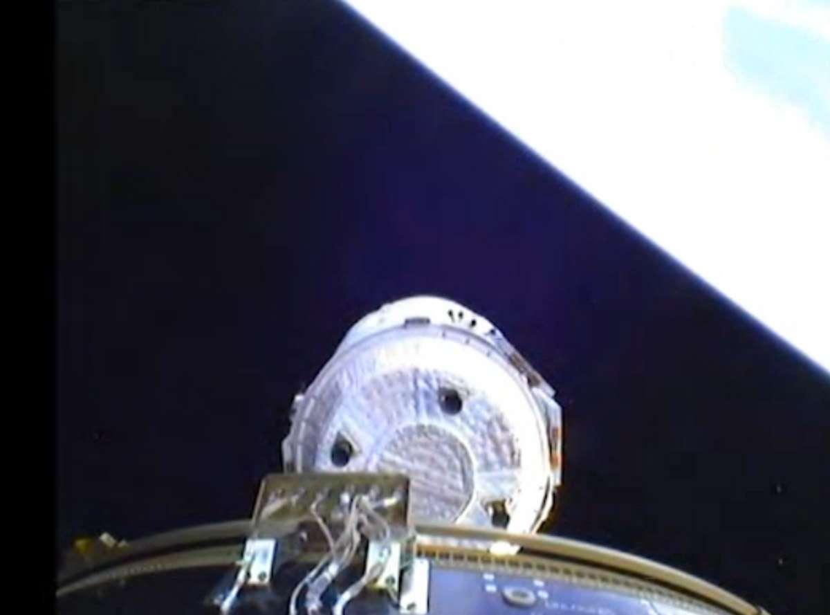 La séparation de l'ATV-4 du lanceur a été filmée en 3D à l'aide de l'instrument Sterex et ses quatre caméras. © DLR-BMWi, Esa, 2013