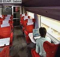 L'Internet par satellite dans les trains à grande vitesse