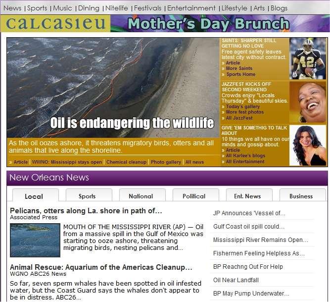 « Le pétrole menace la vie sauvage » explique cette actualité publiée le site NewOrleans.com.