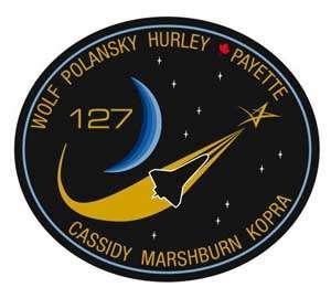 Le macaron officiel de la mission STS-127. © Nasa