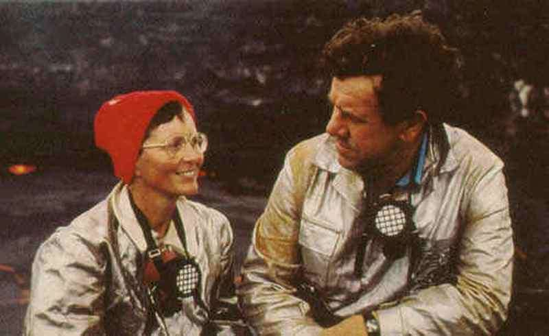 Katia et Maurice Krafft, les diables des volcans. © USGS-Wikipédia