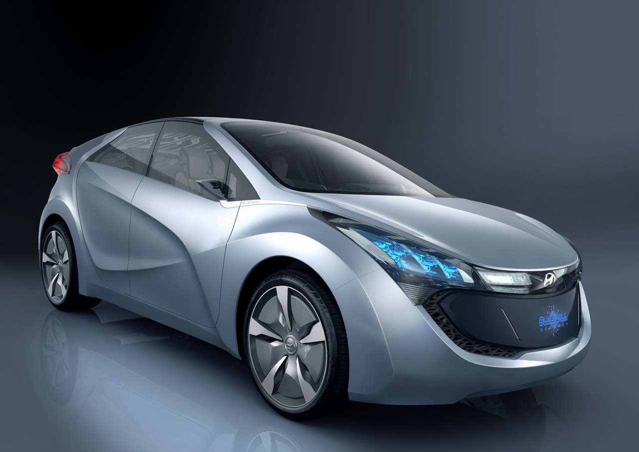 La voiture hybride Blue-Will du constructeur sud-coréen Hyundai utilise un accumulateur lithium métal polymère (LMP) pour alimenter son moteur électrique. À l'avenir, une variante pourrait utiliser de l'azote liquide. © Hyundai