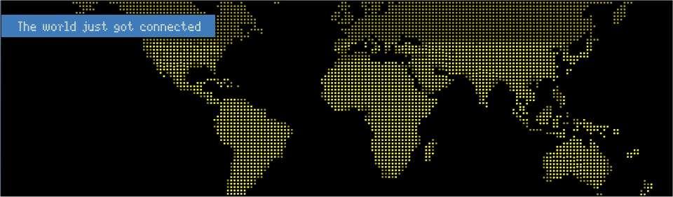 Le monde entier est enfin connecté : le credo de O3B Networks sur la page d'accueil de leur site Web.