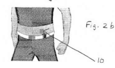 Le brevet de Nokia décrit également un dispositif amovible qui peut s'appliquer sur la peau pour vibrer de façon variable lorsqu'un téléphone portable reçoit un appel ou un message. © Brevet de Nokia