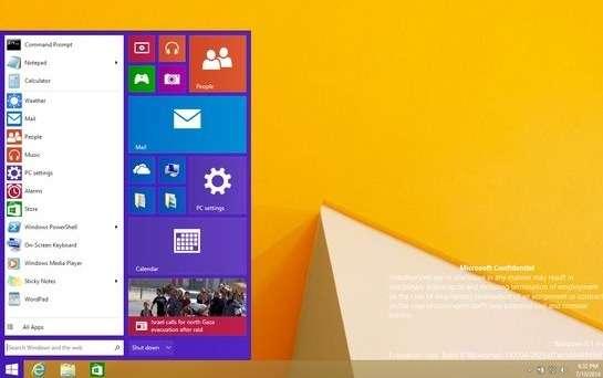 L'un des grands reproches que les utilisateurs font à Windows 8 est la suppression du menu Démarrer. Microsoft a confirmé qu'il fera son retour dans la prochaine version. Une première image de ce nouveau menu est apparue sur la Toile il y a quelques semaines. © My Digital Life