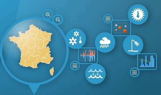 Le service Climat HD est d'ores et déjà accessible via le site de Météo-France. Une application devrait être disponible ce mois-ci pour les tablettes. © Météo-France, tous droits réservés