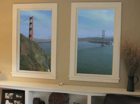 Admirer le pont de Brooklyn depuis sa cave à Melun, c'est possible avec cette fenêtre virtuelle. © Rationalcraft.com (extrait de la vidéo)