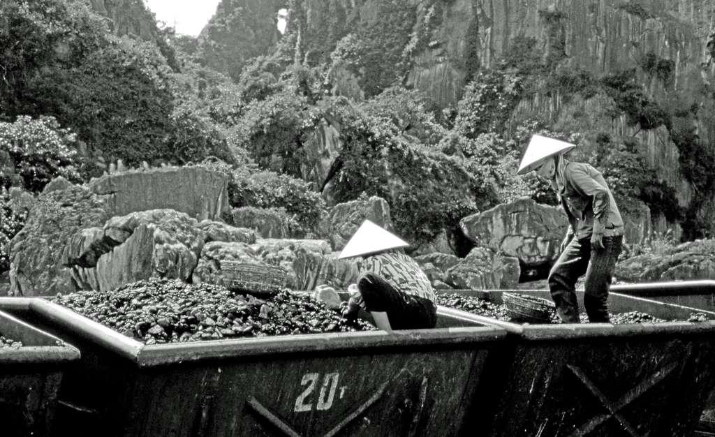 Une mine de charbon au Vietnam. Le district de Quang Ninh est une région riche en charbon, et la plupart de ses mines se trouvent à une vingtaine de kilomètres de la ville d'Halong. © Laurent KB, Flickr, cc by nc sa 2.0