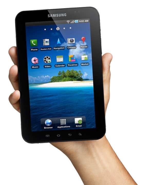 La tablette Galaxy Tab pourra aussi servir à lire le journal ou des BD. © Samsung