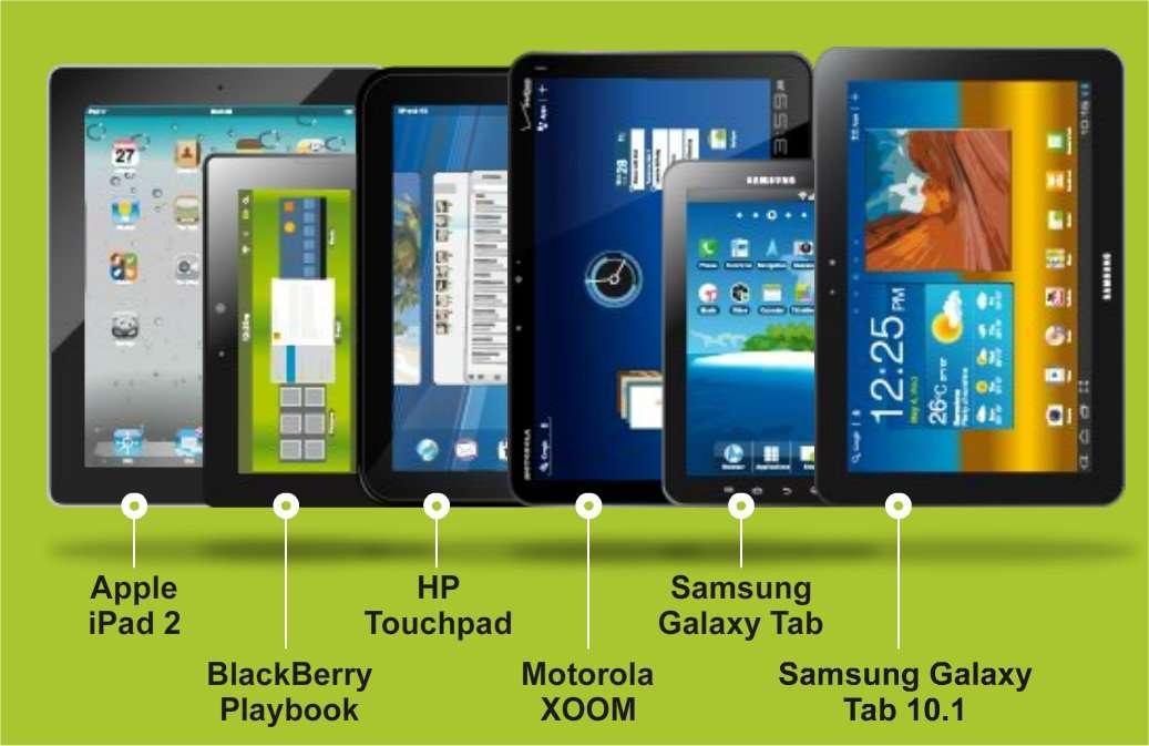 Six tablettes à comparer. © ide.fr-Reuters