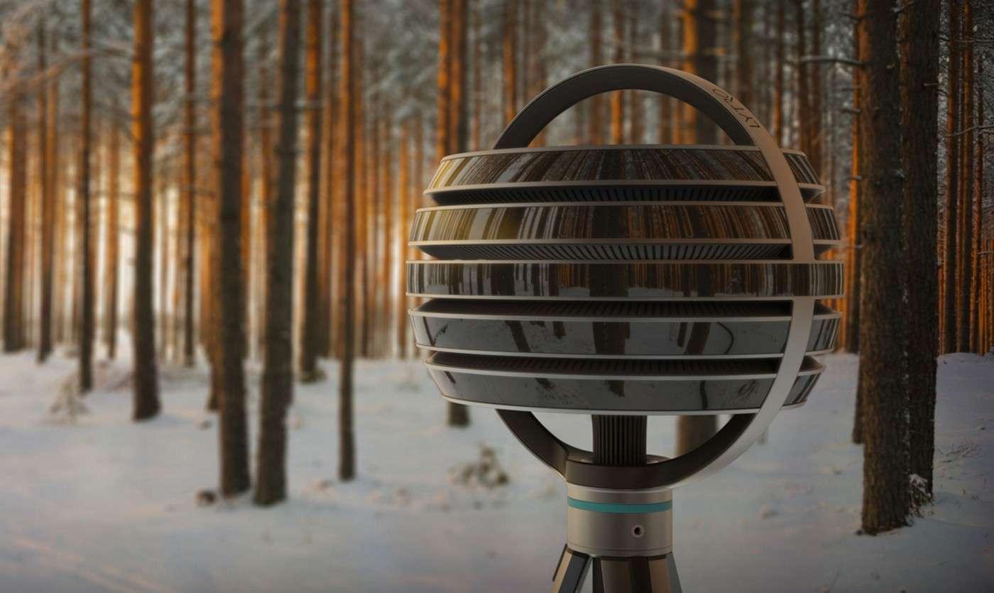 Cette curieuse sphère est en fait une caméra vidéo qui filme à 360 degrés : la Lytro Immerge. Chaque couronne renferme des centaines de capteurs qui saisissent les rayons lumineux présents dans leur champ de vision. L'utilisateur muni d'un casque de réalité virtuelle pourra se déplacer à loisir et s'approcher des objets en obtenant les mêmes effets optiques que dans le monde réel. © Lytro