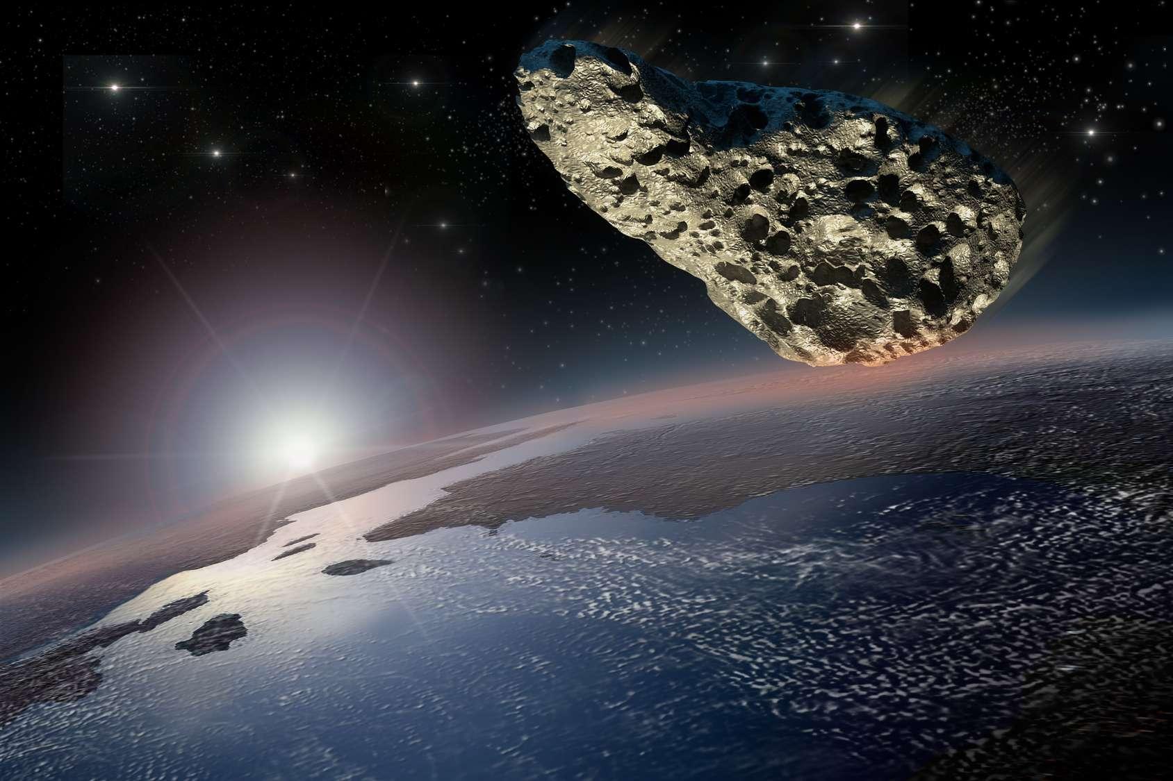 Une météorite d'une dimension estimée à 1 km a frappé la Terre au niveau de ce qui est aujourd'hui le nord-ouest de l'Écosse, qui se trouvait à l'époque près de l'équateur. © 3000ad, Fotolia