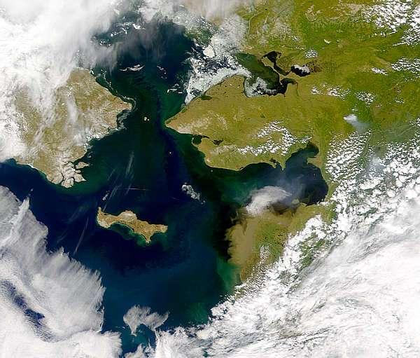 Le détroit de Béring, séparation ou pont entre l'Amérique du Nord et la Sibérie au cours des ères géologiques. © SeaWiFS Project, Nasa / Goddard Space Flight Center et Orbimage