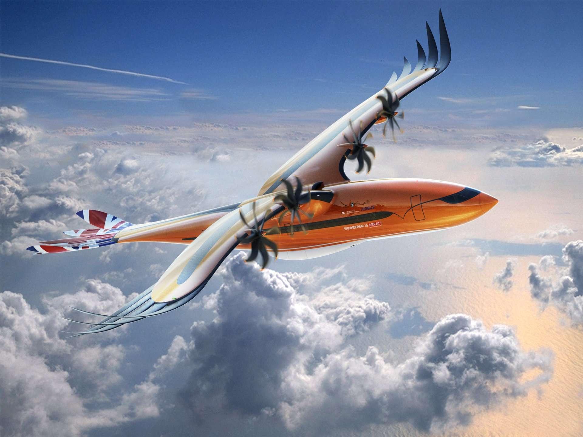 « L'oiseau de proie », un concept d'avion inspiré des rapaces. © Airbus