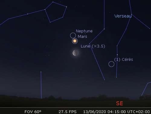 结合火星和海王星的月亮