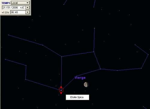 La Lune passe à proximité de l'étoile Spica