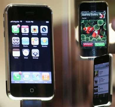 Premier iPhone : Apple dévoile son smartphone tactile. © Apple