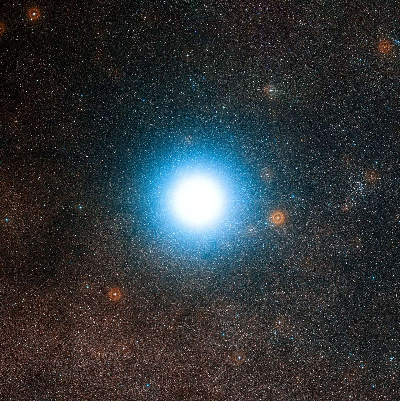 Alpha du Centaure B, vue de la Terre, si lumineuse car très proche... © ESO