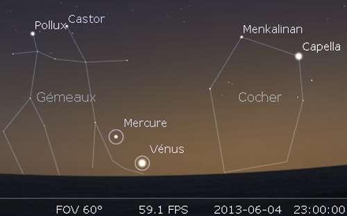 Vénus en rapprochement avec M35
