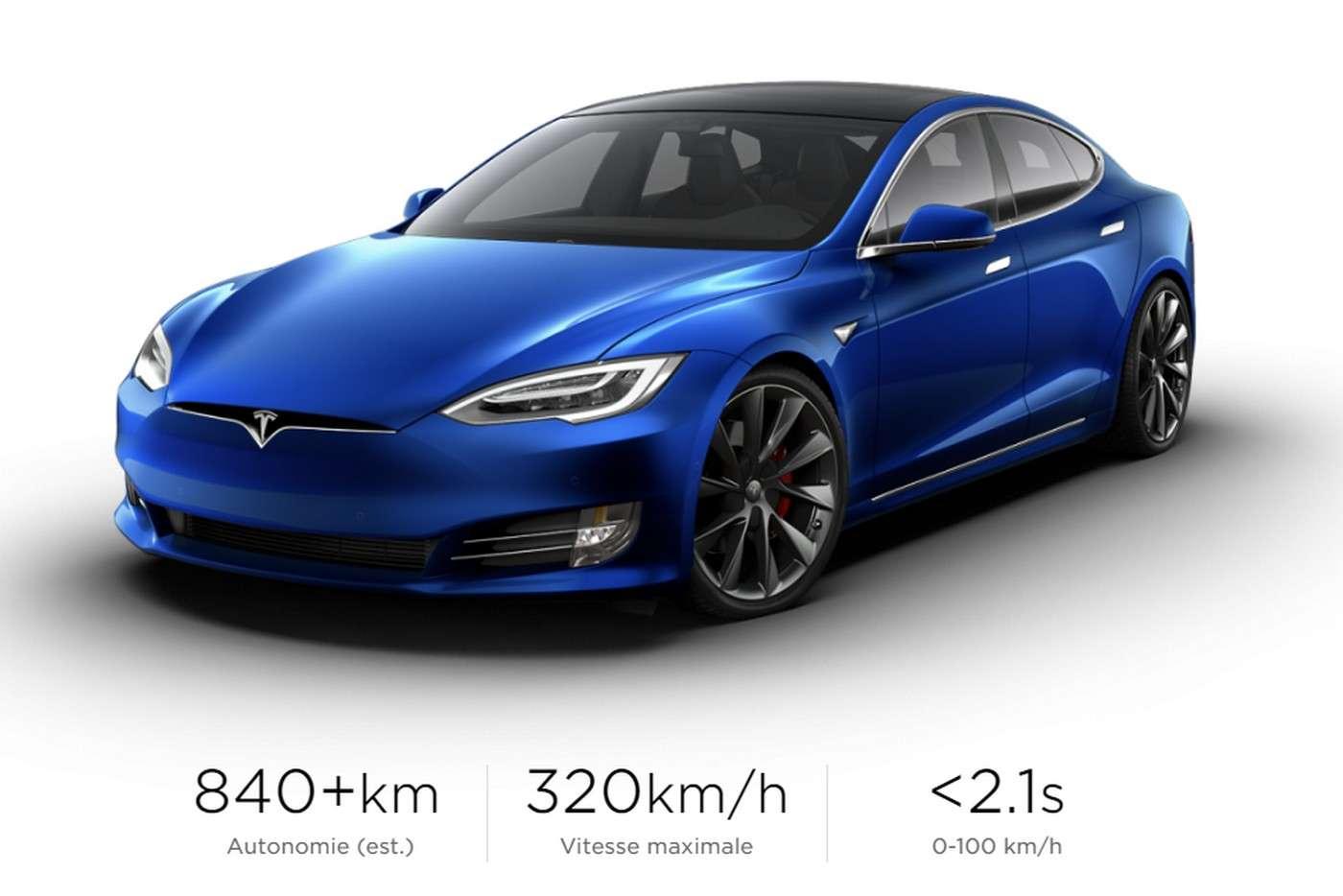 La Tesla Model S Plaid coûte 40.000 euros de plus que la version Performance. © Tesla