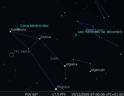 Maximum de l'essaim météoritique des Leonis Minorides de décembre