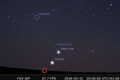 Plus grande élongation de Mercure à l'est du Soleil