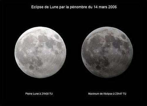 Éclipse de Lune par la pénombre, invisible en Europe et au Moyen-Orient