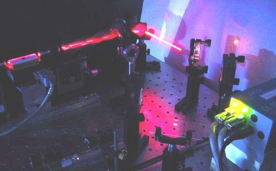Une expérience d'optique quantique. Crédit : Université de Genève-GAP