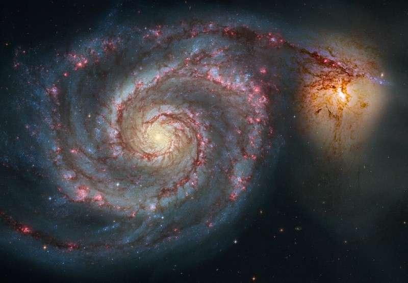 NGC 5194, l'un des 13.000 objets du New General Catalogue, est plus connu sous le nom de M 51, la Galaxie du Tourbillon
